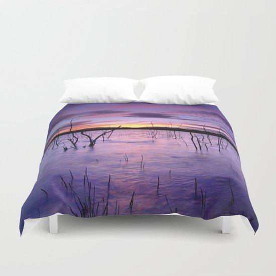 Purple waters Duvet Cover