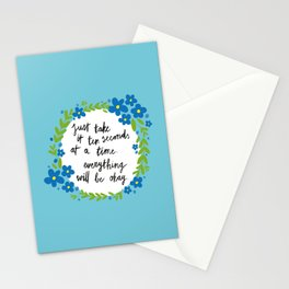 Ten Seconds - Blue Stationery Cards