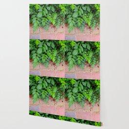 leafy brick Wallpaper