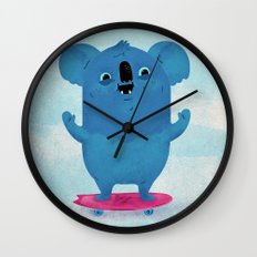 Kickflip Koala Wall Clock