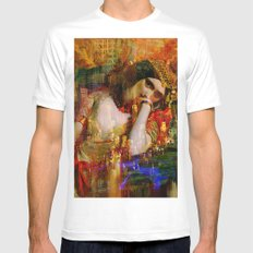 The queen of Manhattan White MEDIUM Mens Fitted Tee