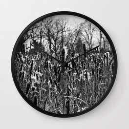 Winter Poetry of the Grasses Wall Clock