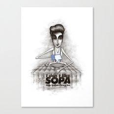 i don't like SOPA Canvas Print