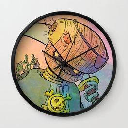 Robot Pirate Wall Clock