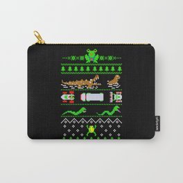 Ugly Christmas Frogger Sweater Carry-All Pouch