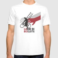 Ladri di biciclette White MEDIUM Mens Fitted Tee
