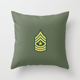 Sergeant Major (OD Green) Throw Pillow