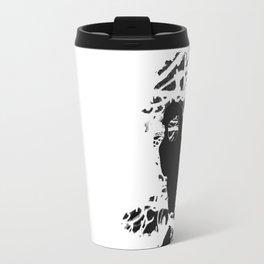 Black & White Colour Girl Travel Mug