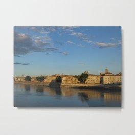 Sunset on the Rhône (Arles) Metal Print