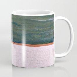 Northern Lights (green) Original Encaustic Painting Coffee Mug