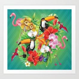 tropical  karnaval Kunstdrucke