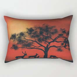 African Silhouette Rectangular Pillow