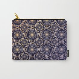 Circle fretwork in Navy & gold Carry-All Pouch