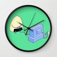 video games Wall Clocks featuring Onigiri video games! by RAIKO IVAN雷虎