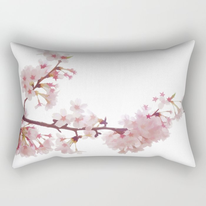Cherry Blossom Flowers Rectangular Pillow