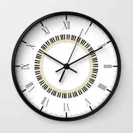 Pianom Keys Circle Wall Clock