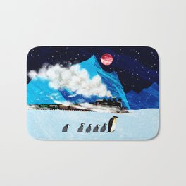 Penguin and Steam Train Bath Mat