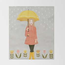 showers & flowers Throw Blanket