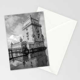 Belem Tower Black white photo Stationery Cards