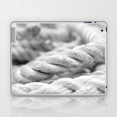 Ropes black and white macro Laptop & iPad Skin