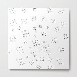Tic-Tac-Toe Metal Print