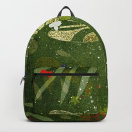 Dragon Fly in Gold Backpack