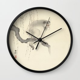 Monkey on Tree Branch Wall Clock