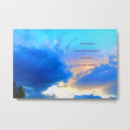 """Sunset #60"" with poem: Field Of Life Metal Print"
