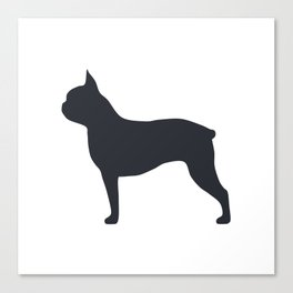 boston terrier silhouette Canvas Print