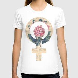 Respect, equality, women's liberation. Feminism Power Fist / Raised Fist T-shirt
