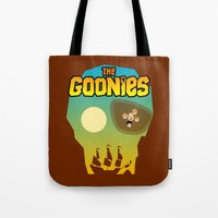 goonies Tote Bags featuring The Goonies by tuditees