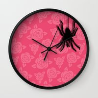spider Wall Clocks featuring Spider by Mr and Mrs Quirynen