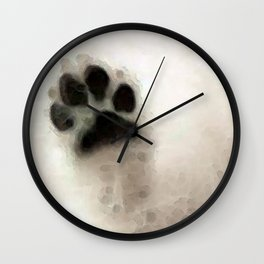 I Paw You - Dog Art By Sharon Cummings Wall Clock