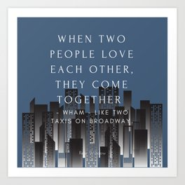 Rear Window Classic Movie Quote Art Print