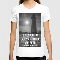 bible T-shirts featuring Bible verse - Donaghadee Lighthouse by cmphotography