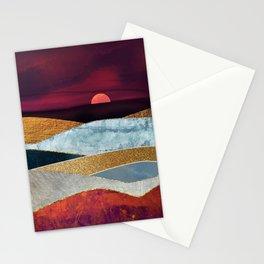 Crimson Sky Stationery Cards