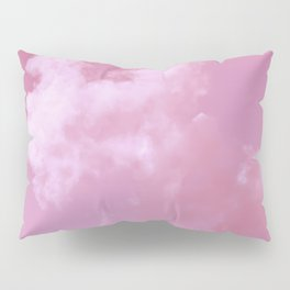 Floating cotton candy with pink Pillow Sham