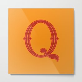 Letter Q - 36 Days of Type Metal Print