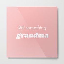 Grandma at Heart Metal Print