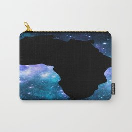 Africa : Teal Blue Violet Galaxy Carry-All Pouch