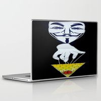 anonymous Laptop & iPad Skins featuring Anonymous by Edgar Huaracha