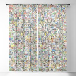 Tennis Stamps Sheer Curtain