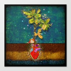 even though i buried my heart, my love has blossomed Canvas Print