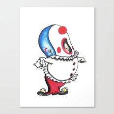 Pagliacci Whale Clown Canvas Print