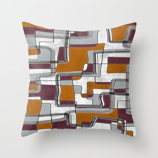 City Traffic Puzzle I Throw Pillow