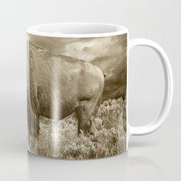 American Buffalo in Sepia Tone Coffee Mug