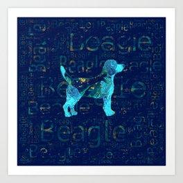 Decorative Beagle  dog Art Print