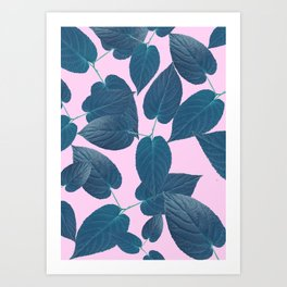 pink vegetation Art Print