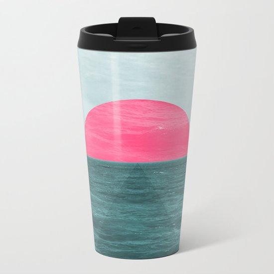 Magenta Sunset Metal Travel Mug
