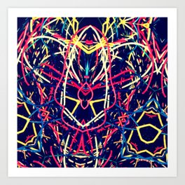 Bugged Out Wires Art Print